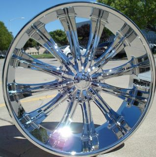 26 BW15 CHROME WHEELS & TIRES 6X139.7 2007 2010 TAHOE ESCALADE YUKON