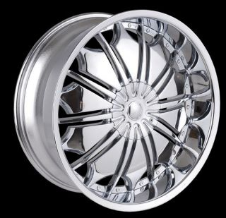 26 inch T706 Chrome Wheels Rims Cadillac Escalade All