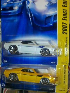 HOT WHEELS 69 FORD MUSTANG FASTBACK MAINLINE 2007 LIMITED 1ST EDITION