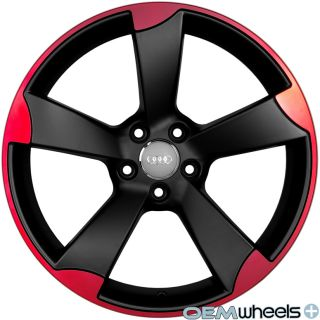 Red RS3 Wheels Fits Audi A5 S5 RS5 B8 8T Coupe Cabriolet Rims