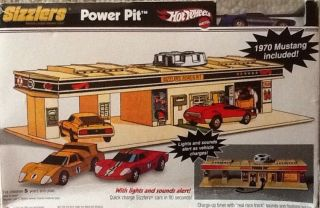 Hot Wheels Sizzlers Power Pit Includes Blue 1970 Mustang Box Is