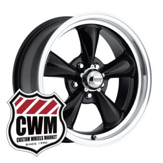 17x7 Black Wheels Rims 5x4 75 Lug Pattern for Chevy S10 Blazer 2WD