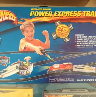 Mattel HOT WHEELS Infra Red Remote POWER EXPRESS Train Set   FACTORY