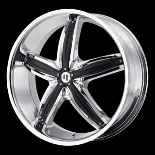 Wheels Rims Helo HE844 Chrome 18 x 8 6x120 Cadillac SRX 3 0