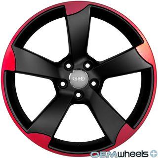 Red RS3 Wheels Fits Audi A3 A6 TT TTS 8P C6 MK2 Quattro VW Rims