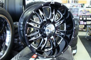 20 Eagle Alloy 016 Black Wheels 20x10 8x6 5 8x170 Ford F250 Dodge