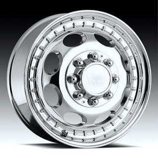 19 5 Chrome Wheels Tires Package Dually Chevy 3500 Duramax 8 Lug 245