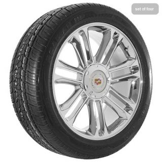 Cadillac Escalade Platinum Edition Chrome Wheels Rims and Tires