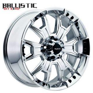 20 inch Ballistic Havoc Chrome Wheels Rims Hummer H3