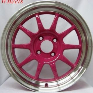 16x7 Rota GT3 4x100 40 Royal Pink Wheel Fits Civic Integra CRX XB