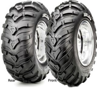 ATV Mud Tire Wheel Kit Ancla 26 on Black Steel Rims