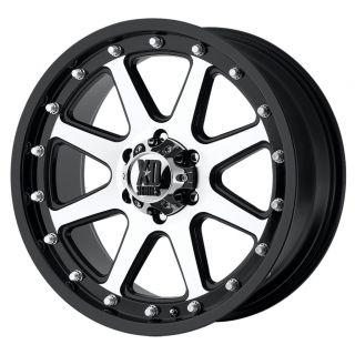 17x9 XD Addict Matte Black Machined Wheels 8x6 5 Chevy HD RAM 2500