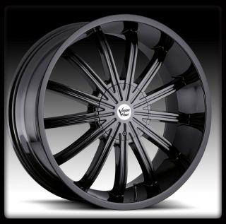 22 x 9 5 Vision 456 Xtacy 6x135 Phantom Black Wheels Rims 22 inch 30