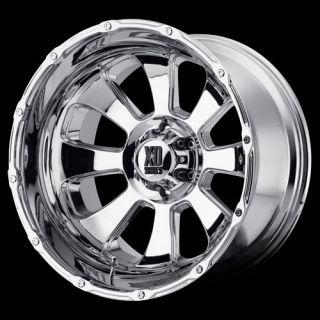 20 XD Series 799 Armour Chrome Wheel Set 20x12 Rims