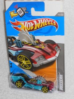 Hot Wheels 2012 HW Code Cars 12 11 22 Buzzerk Turquoise Red