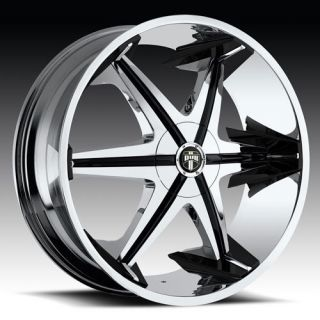 30 x10 Dub Big Homie w O Rivet Chrome 5 Lug Wheels Rims