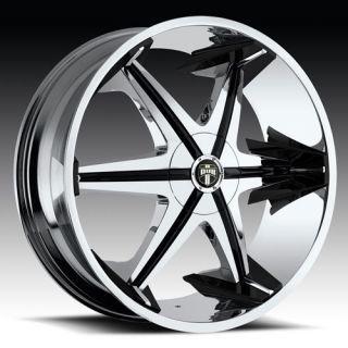 30 x10 Dub Big Homie w O Rivet Chrome 5 Lug Wheels Rims