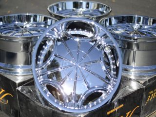 22 Chrome Wheels Rims Dodge Dakota Durango GMC C2500 K1500 Safari