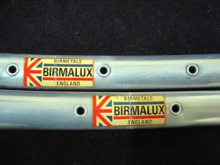 BIRMALUX SPRINT Bicycle Tubular Rims 700C 36 holes NOS 1pair Made in
