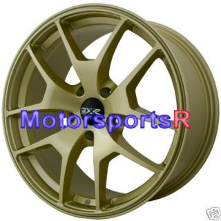 19 XXR 518 Gold Wheels Rims 5x114 3 05 07 08 09 11 12 Subaru STI