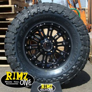 18 XD Hoss 795 Black Wheels 33x12 50R18 Toyo MT 33 Tires GM Ford JK