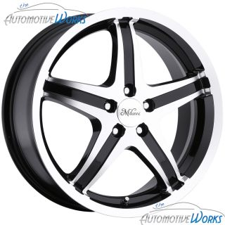 Milanni Kool Whip 5 5x100 +38mm Black Machined Wheels Rims Inch 15