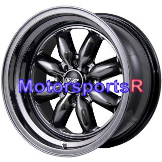 16 16x8 XXR 513 Chromium Black Rims Wheels Deep Dish Stance 89 Nissan