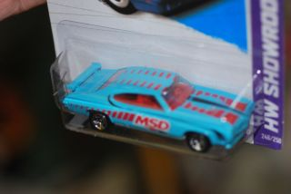 Hot Wheels 1970 Pontiac GTO Judge 455  MSD  light blue HW Showroom 13