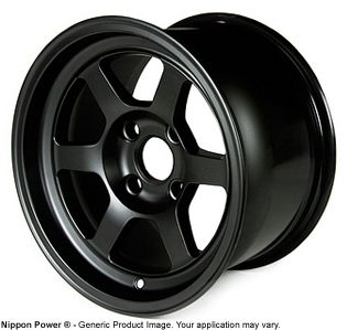 Black 13x8 4x100 Drag autocross Wheels Civic Integra Miata Rims