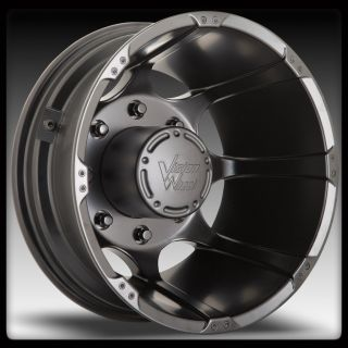 VISION 715 CRAZY EIGHTZ BLACK DUALLY 8X6 5 8X165 1 WHEELS RIMS 16 INCH