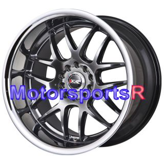 Chromium Black Rims Wheels Staggered 5x114 3 09 13 Nissan 370z Nismo