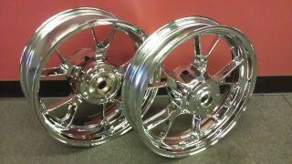 zx14 1400 ZX 14 Ninja Chrome Wheel Rim Wheels Rims No Exchange