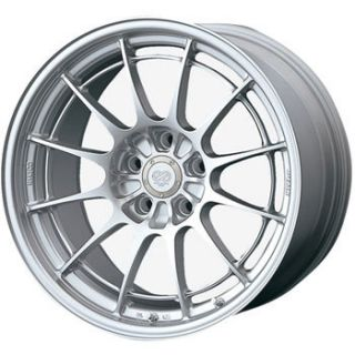 17 ENKEI NT03+M SILVER RIMS WHEELS 17x7.5 +40 4x100 MINI COOPER CIVIC