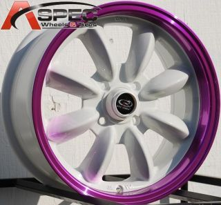 15x7 Rota RB Wheels 4x100 Rims Fits 4 Lug CRX Civic Integra Fit Miata