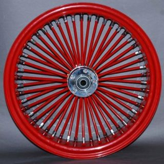 Custom 21 Wheel Package Fat Daddy Red Spokes Red Rims for Harley