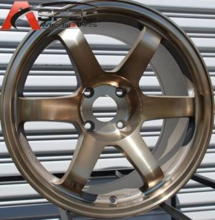 17x9 Rota Grid Wheels 5x114 3 Rim 25mm Sport Bronze S14