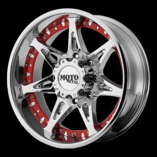 Moto 961 20x10 Low Offset Chrome Dodge Chevy Wheels