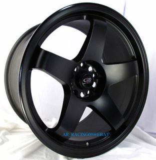 18 Rota Rims Wheels 18x9 5 P45R Black 240sx s14 350Z