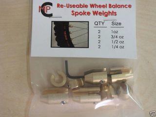 Motorcycle Wheel Balance Weights for Spoke Wheels