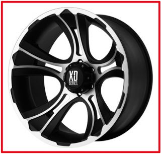 17 inch Black machined wheels KMC XD 801 CRANK Chevy GMC 1500 truck 6