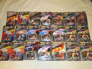 Hot Wheels Vintage Collectors Lot 21 Cars Racing Pro Series NASCAR