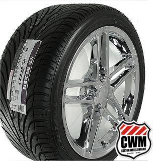 18x9 5 Corvette C6 Z06 Chrome Wheels Rims Tires direct fit for