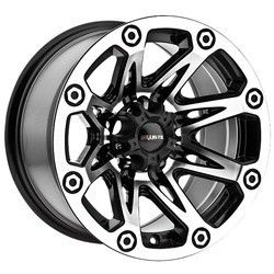 15 inch Ballistic Flash Black Wheels Rims Jeep Wrangler