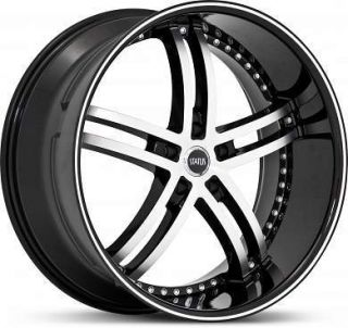 20 x8 5 Status Knight 5 S816 Black Machined Wheels Rims