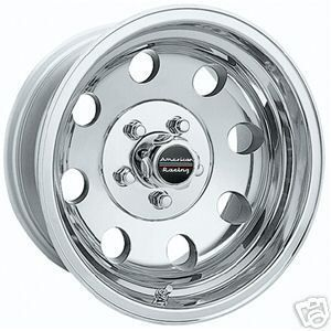 15 inch 15x8 Polished Baja Wheels 5x4 5 Rims Jeep Wrangler Ford Ranger