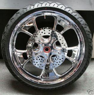 New EPC CVO Chrome Wheels Tires 4 Harley 02 07 FLH Set