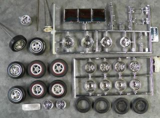 Lot of 1 25 Scale Wheels and Tires for Model Car Kits Misc 1 24