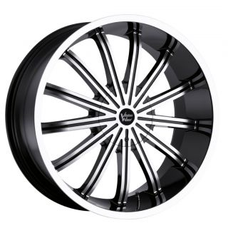 24 inch Vision Xtacy Black Wheels Rims 5x115 8