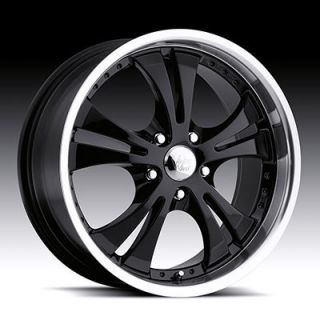 16 inch 5x4 5 Black Machined Vision Shockwave Wheels Rims 5 Lug Acura