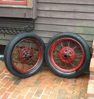 Antique 21 inch Model A Spoke Wire Wheels Rims Good